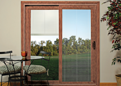 Sliding Glass Door with Internal Blinds